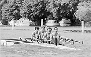 Henley on Thames, England, 1989 Henley Royal Regatta, River Thames, Henley Reach,  [© Peter Spurrier/Intersport Images], The Queen Mother Challenge Cup, Bow Richard STANHOPE, Rory HENDERSON, Martin CROSS, Chris ANDREWS