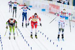 February 24, 2019 - Seefeld In Tirol, AUSTRIA - 190224 Ingvild Flugstad ¯stberg of Norway and Stina Nilsson of Sweden competes womenÃ•s team sprint final during the FIS Nordic World Ski Championships on February 24, 2019 in Seefeld in Tirol..Photo: Vegard Wivestad GrÂ¿tt / BILDBYRN / kod VG / 170295 (Credit Image: © Vegard Wivestad Gr¯Tt/Bildbyran via ZUMA Press)