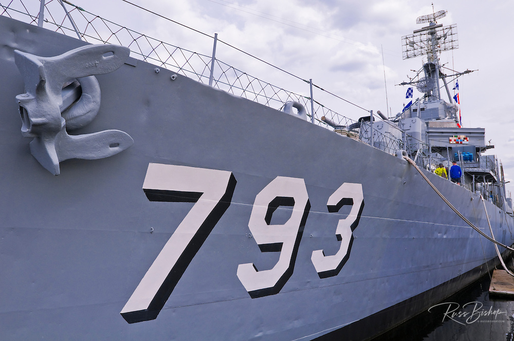 USS Cassin Young National Historic Landmark at the Charlestown Navy Yard, Boston, Massachusetts