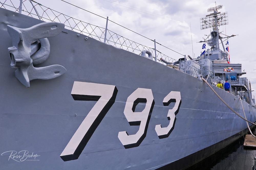USS Cassin Young National Historic Landmark at the Charlestown Navy Yard, Boston, Massachusetts