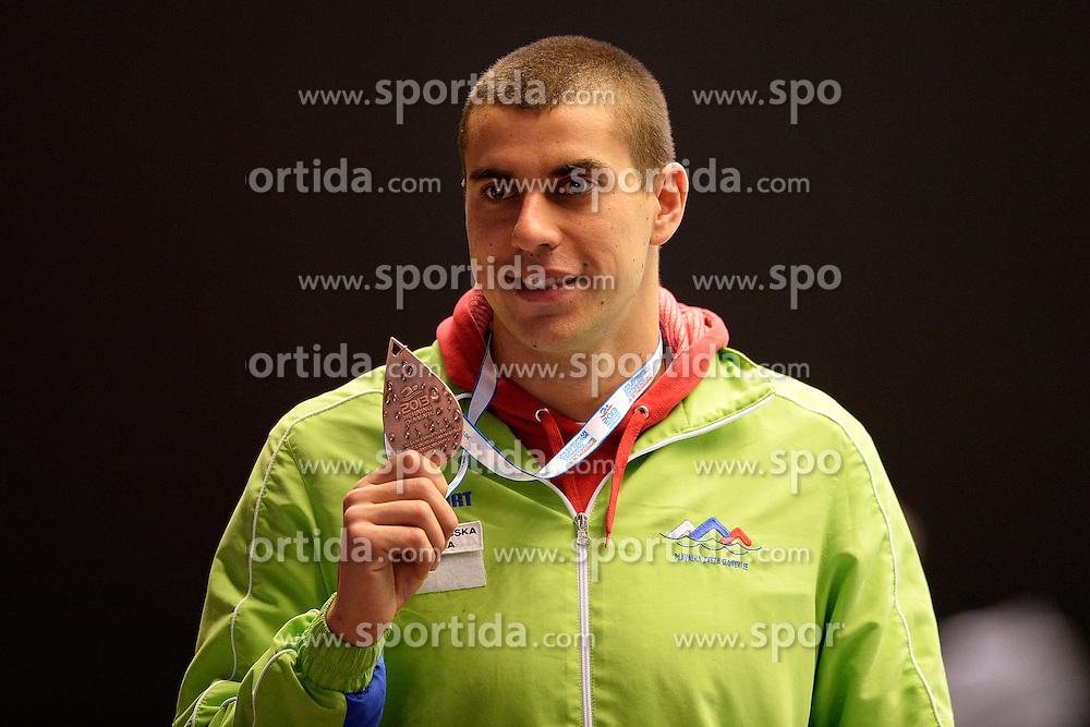 Damir Dugonjic Slovenia Bronze medal 100m Breaststroke men <br /> Herning 13-12-2013 Jyske Bank Boxen <br /> European Short Course Swimming Championships - Campionati Europei nuoto vasca corta<br /> Foto Andrea Staccioli