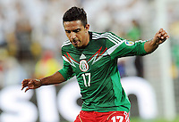Mexico's Alonso Escoboza against New Zealand in the World Cup Football qualifier, Westpac Stadium, Wellington, New Zealand, Wednesday, November 20, 2013.
