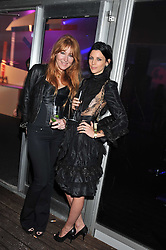 Left to right, CHARLOTTE TILBURY and LIBERTY ROSS at a party hosted by Rimmel London to celebrate the 10 year partnership with Kate Moss held at Battersea Power Station, London SW8 on 15th September 2011.