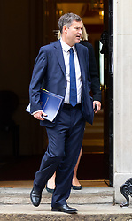 © Licensed to London News Pictures. 04/09/2018. London, UK. Justice Secretary David Gauke leaves Downing Street after attending a Cabinet meeting this morning. Photo credit : Tom Nicholson/LNP