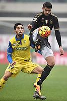 Lucas Castro Chievo, Alvaro Morata Juventus <br /> Verona 31-01-2016 Stadio Bentegodi, Football Calcio Serie A 2015/2016 Chievo - Juventus. Foto Andrea Staccioli / Insidefoto
