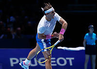 Tennis - 2019 Nitto ATP Finals at The O2 - Day Six<br /> <br /> Singles Group Andre Agassi: Rafael Nadal (Spain) Vs. Stefanos Tsitsipas (Greece)<br /> <br /> Rafael Nadal (Spain) with the follow through after serving <br /> <br /> COLORSPORT/DANIEL BEARHAM<br /> <br /> COLORSPORT/DANIEL BEARHAM