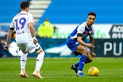 Antonee Robinson of Wigan Athletic takes on Pablo Hernandez of Leeds United - Mandatory by-line: Robbie Stephenson/JMP - 04/11/2018 - FOOTBALL - DW Stadium - Wigan, England - Wigan Athletic v Leeds United - Sky Bet Championship
