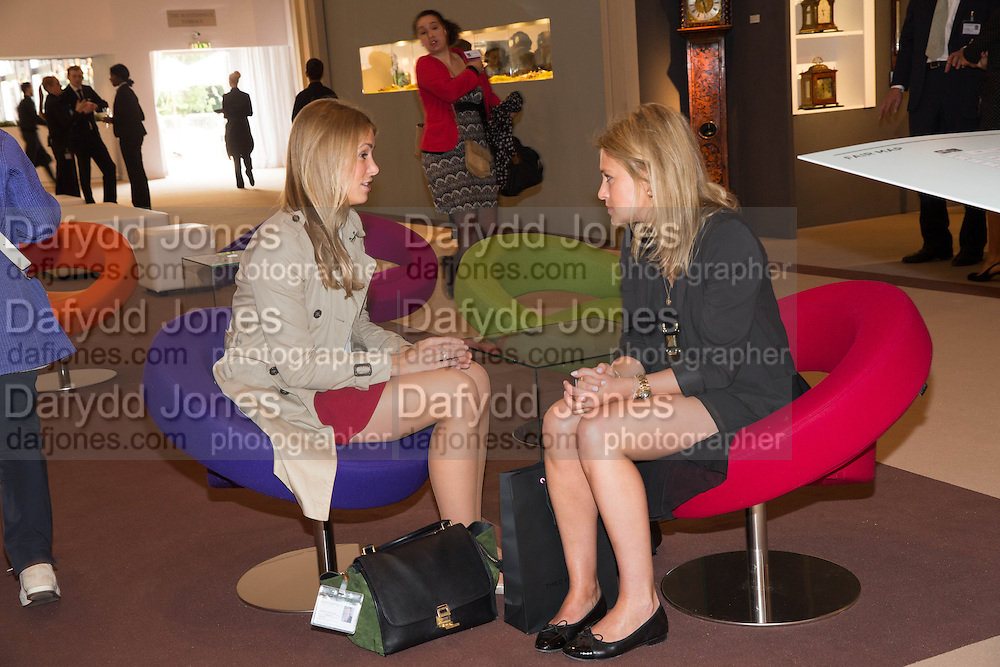 ANNEKE VON TROTHA TAYLOR; HENRIETTA CHIDWICK IN THE FAIR- Lunch at the Ivy Club pop up-restaurant during the preview of Masterpiece Art Fair. Co-hosted by  Count & Countess Filippo Guerrini-Maraldi, and Lord<br /> Dick Daventry. 26 June 2013