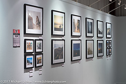 The photography of Samson Hatae on display in the Old Iron - Young Blood exhibition in the Motorcycles as Art gallery at the Buffalo Chip during the annual Sturgis Black Hills Motorcycle Rally. Sturgis, SD. USA. Tuesday August 8, 2017. Photography ©2017 Michael Lichter.