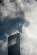 Clouds pass through the Shanghai World Financial Center in Shanghai, China on 19 October 2010. Shanghai, China's largest city, is quickly becoming one of the major financial centers of the world.