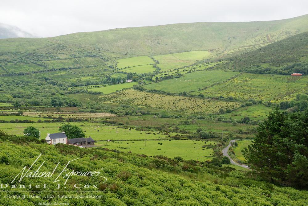 Rolling Irish landscape, Ireland.