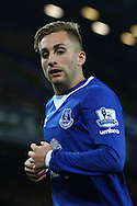 Gerard Deulofeu of Everton looks on. Barclays Premier league match, Everton v Crystal Palace at Goodison Park in Liverpool, Merseyside on Monday 7th December 2015.<br /> pic by Chris Stading, Andrew Orchard sports photography.
