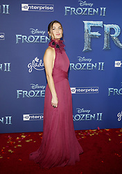 Rachel Matthews at the World premiere of Disney's 'Frozen 2' held at the Dolby Theatre in Hollywood, USA on November 7, 2019.