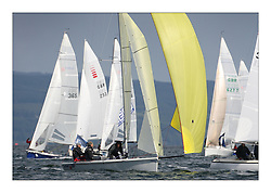 Sailing - The 2007 Bell Lawrie Scottish Series hosted by the Clyde Cruising Club, Tarbert, Loch Fyne..Day 2 racing with light to medium winds from the North west..SB3 Taku with the Sonar and other Sportsboats in Class two at their windward mark..