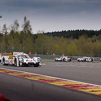 Porsche Team, Porsche 919 Hybrid #17 driven by Timo Bernhard / Mark Webber / Brendon Hartley, #18 driven by Romain Dumas / Neel Jani / Marc Lieb, #19 driven by Nico Hulkenberg / Earl Bamber / Nick Tandy, WEC 6 Hours of Spa-Francorchamps 2015