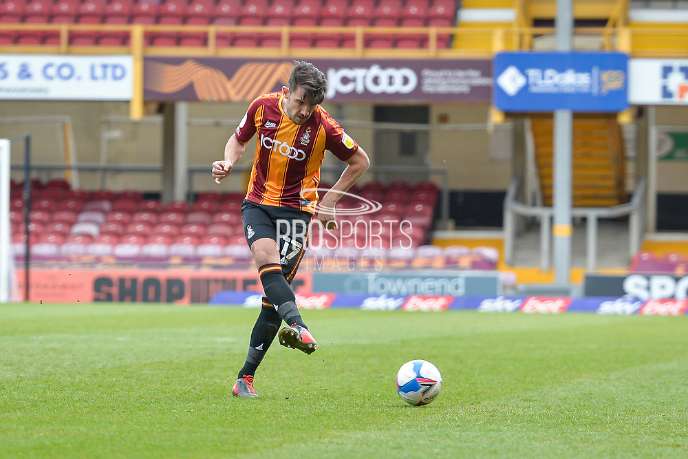 Gareth Evans Pass during the EFL Sky Bet League 2 match between Bradford City and Scunthorpe United at the Utilita Energy Stadium, Bradford, England on 1 May 2021.