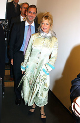PATTI BOYD and DAVID BACHETTI at an exhibition of photographs by Matthew Mellon entitled Famous Feet - featuring well known people wearing shoes from Harrys of London, held at Hamiltons Gallery, Carlos Place, London on 22nd November 2004.<br /><br />NON EXCLUSIVE - WORLD RIGHTS