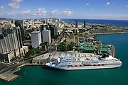 Honolulu Harbor, Honolulu, Oahu,  Hawaii, USA