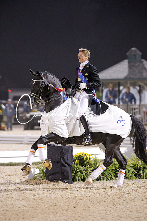 Gal Edward (NED) winner of the Grand Prix Freestyle with Moorlands Totilas<br /> Alltech FEI World Equestrian Games <br /> Lexington - Kentucky 2010<br /> © Dirk Caremans