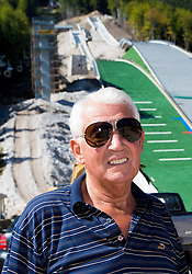 Lojze Gorenc at media day of Slovenian Ski jumping team during construction of two new ski jumping hills HS 135 and HS 105, on September 18, 2012 in Planica, Slovenia. (Photo By Vid Ponikvar / Sportida)