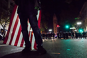NOVEMBER 9, 2016 - OAKLAND, CA: Anti-Trump protesters take the streets to express their sentiments over the victory of Donald Trump in the 2016 Presidential Election, in Oakland, California on November 9, 2016. (Photo by Philip Pacheco)