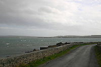 Roadway on Inis Mor the Aran Islands<br />