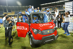 September 3, 2017 - Colombo, Sri Lanka - The Indian cricket team take a ride in a van after winning the ODI series against the host Sri Lanka by 5-0 after the 5th and final One Day International cricket match between Sri Lanka and India at the R Premadasa international cricket stadium at Colombo, Sri Lanka on Sunday 3 September 2017. (Credit Image: © Tharaka Basnayaka/NurPhoto via ZUMA Press)