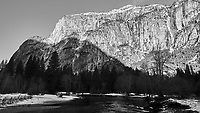Merced River. Yosemite Valley in the Winter. Yosemite National Park. Image taken with a Nikon D3x camera and 14-24 mm f/2.8 lens.