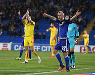 Lex Immers of Cardiff city (27) appeals for a corner.Skybet football league championship match, Cardiff city v Rotherham Utd at the Cardiff city stadium in Cardiff, South Wales on  Saturday 23rd January 2016.<br /> pic by  Andrew Orchard, Andrew Orchard sports photography.