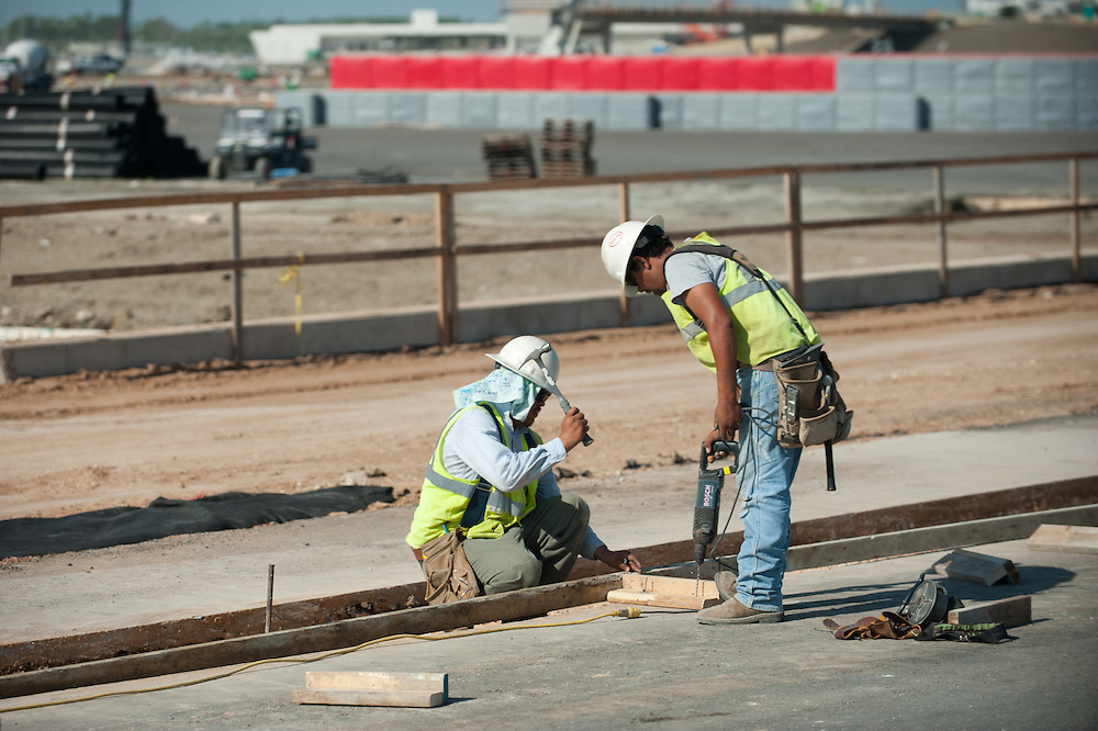 Mark Matson for American-Statesman ( 8/10/12)  Work continues at the Circuit of the Americasin anticipation of the 2012 Formula 1 United States Grand Prix, on November 16-18. Next week, a final paving process will begin on the racetrack.