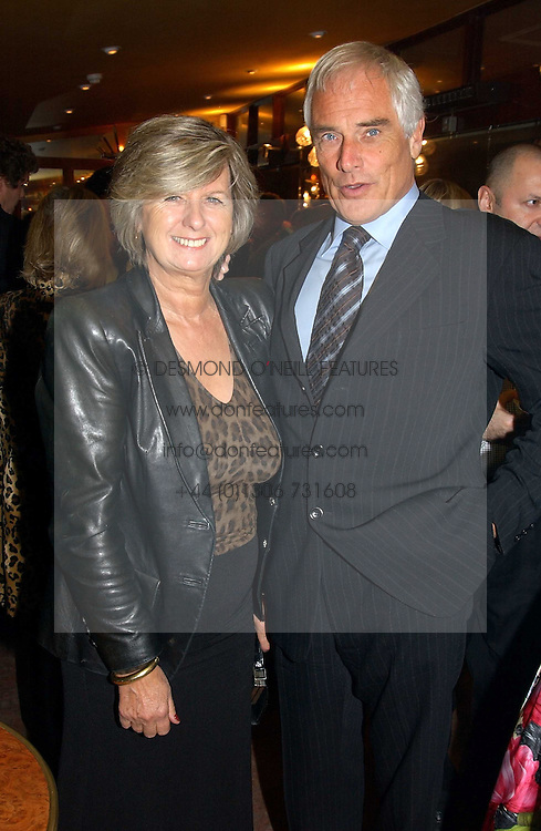 MR & MRS ROBERT KILROY-SILK he is the MEP and TV presenter at a pre-screening party of a film by Fiona Sanderson entitled 'The Hunt For Lord Lucan' held at Langans, 254 Old Brompton Road, London SW7 on 8th November 2004.<br />