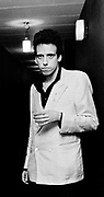 Mick Jones of the Clash backstage at the London Lyceum 1981