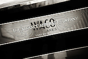Waco logo on the side of the 1928 Waco ATO at WAAAM.
