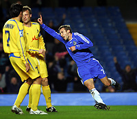 Andriy Shevchenko Celebrates Scoring 1st goal<br />Chelsea 2006/07<br />Chelsea V PFC Levski Sofia 06/12/06<br />UEFA Champions League Group A<br />Photo Robin Parker Fotosports International