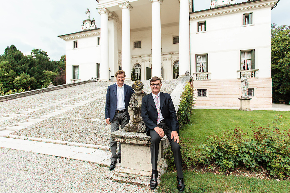 29 JUN 2009 - Crocetta del Montello (TV) - I fratelli Mario e Giancarlo Moretti Polegato, calzature Geox e vini Villa Sandi