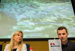 Maja Pak and Andrej Hauptman Hempi during press conference of cycling race 24th Tour de Slovenie 2017, on May 4, 2017 in Telekom Slovenije, Ljubljana, Slovenia. Photo by Vid Ponikvar / Sportida