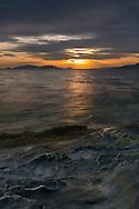 Sunset at Clayton Beach in Larrabee State Park - Washington State, USA