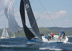 Sailing - SCOTLAND  - 25th-28th May 2018<br /> <br /> The Scottish Series 2018, organised by the  Clyde Cruising Club, <br /> <br /> First days racing on Loch Fyne.<br /> <br /> GBR 732R, Wildebeeste, Craig Latimer, Ker 32<br /> <br /> Credit : Marc Turner<br /> <br /> <br /> Event is supported by Helly Hansen, Luddon, Silvers Marine, Tunnocks, Hempel and Argyll & Bute Council along with Bowmore, The Botanist and The Botanist