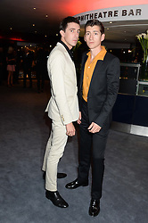 Left to right, MILES KANE and ALEX TURNER from the Artic Monkeys at the GQ Men of The Year Awards 2013 in association with Hugo Boss held at the Royal Opera House, London on 3rd September 2013.