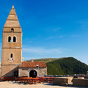 Old Campinal of the church of Lubenice hill top village, Cres Island, Croatia