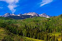 Sneffels Range above Ridgway, Colorado USA