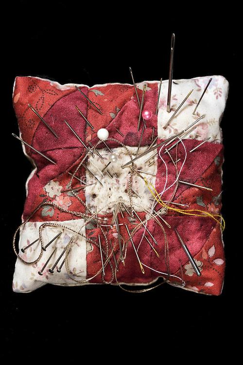 needle cushion with various needles