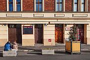 Wyludnione, opustoszałe ulice Krakowskiego Kazimierza w czasie pandemii Covid-19.