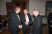 SIR CHRISTOPHER FRAYLING; PAUL HUXLEY; CHRIS ORR, Royal Academy of Arts Annual dinner. Piccadilly. London. 29 May 2012.