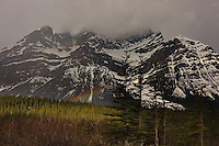 The Bow Range as seen from the Icefields Parkway in Banff National Park