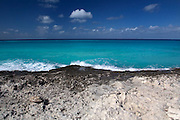 Caribbean coast of Alice Town on the tiny Caribbean island of Bimini, Bahamas.