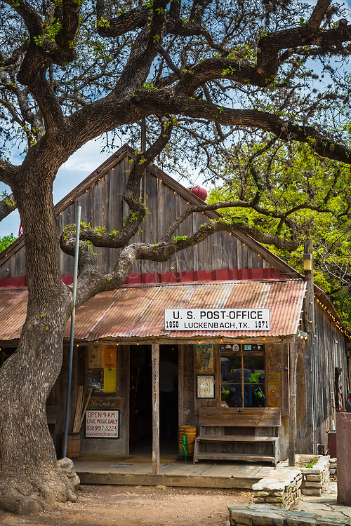 Iconic Americana, the Luckenbach post office in central Texas