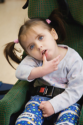 Four year old girl with severe learning difficulties,