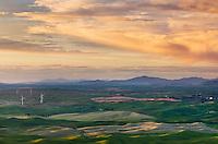 Evening light bathing the Palouse region of the Inland Empire of Washington