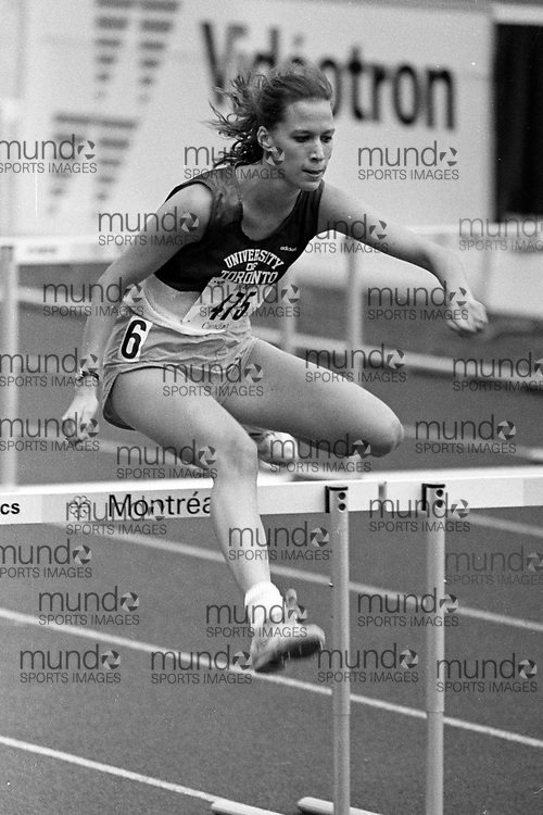 (Montreal, Canada --- 25 July 1991)  at the 1991 Canadian National Track and Field Championships held at the Complexe sportif Claude-Robillard in Montreal. Photo 1991 Copyright Sean Burges / Mundo Sport Images. ******This is an unprocessed scan from the negative. You can buy it as is and clean it up yourself, or contact us for rates on providing the service for you. *******
